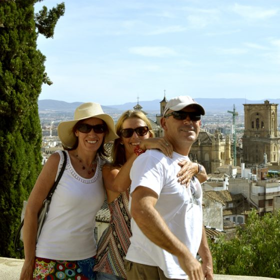 View from the Alhambra towards the Cathedral