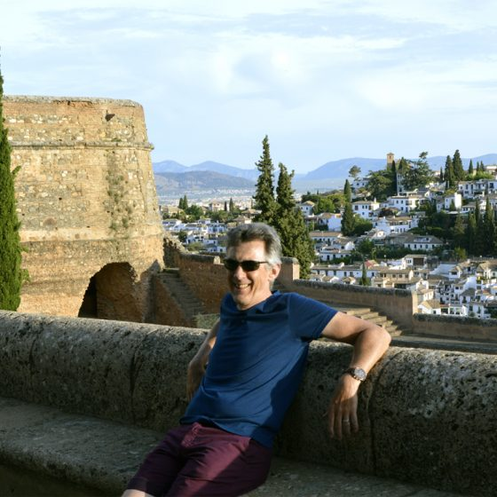 View from Alhambra to San Cristobal.