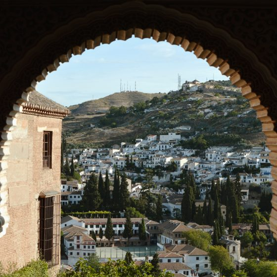 Alhambra view from a window in Nasrid Palace