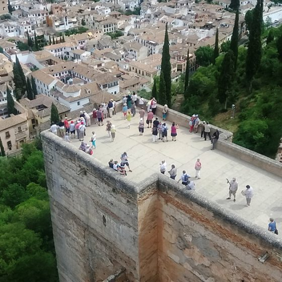 View from highest tower in the Alhambra