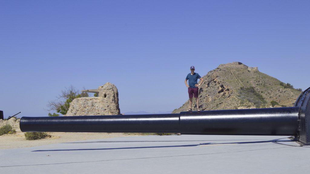 """Vickers 15"""" navel Gun 17 barrel Bateria de Castillitos"""