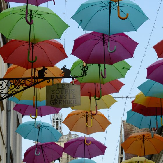 Laon street umbrella decoration