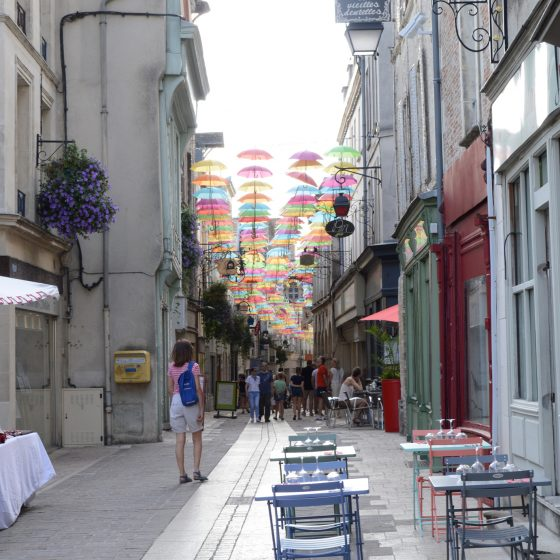 Laon main shopping street
