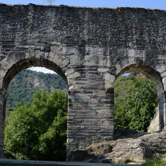 Susa remaining arches of the Roman aqueduct
