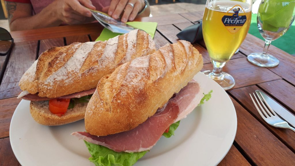 French baguette lunch