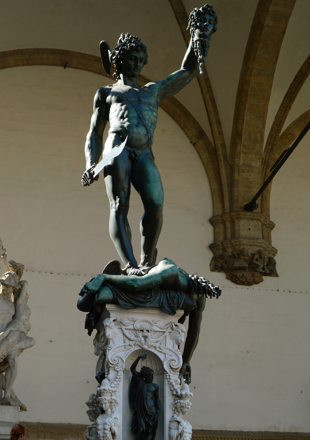 Florence Perseus with the head of medusa