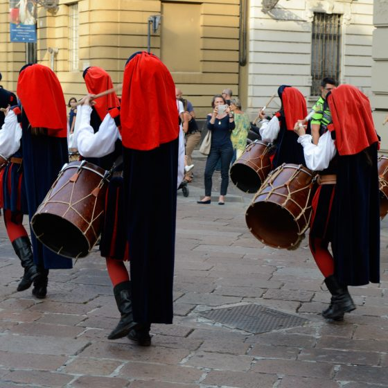 Palio di Parma marching drummers