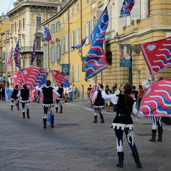 Palio di Parma flag throwers