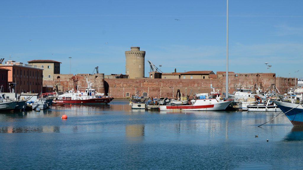 Livorno Cover Fortezza & harbour