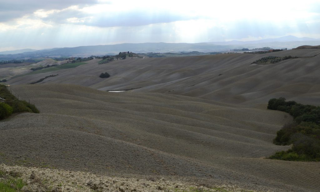 Tuscany Rolling ploughed hills