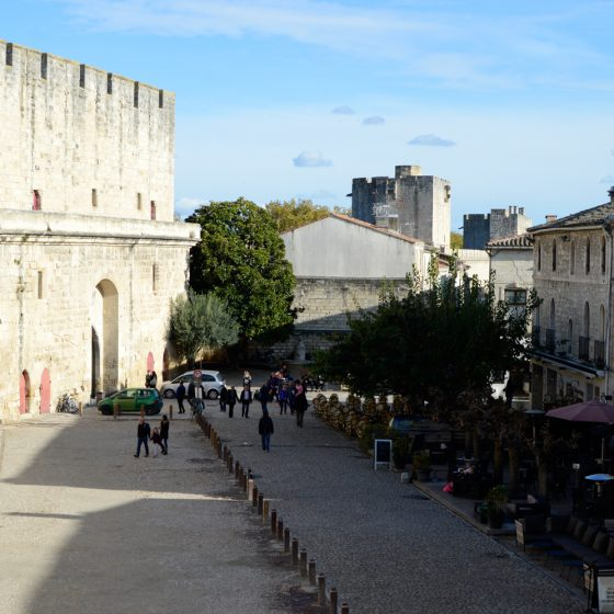 Aigues-Mortes - hotel from the city wall