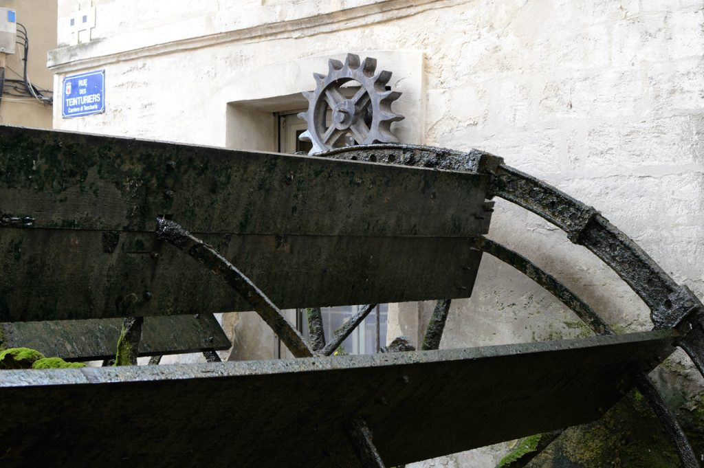 Avignon - Water Wheel on Rue Des Teinturiers