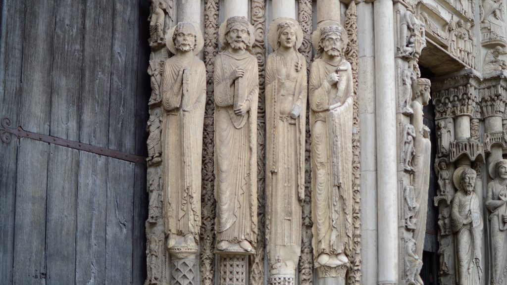 Chartres Cathedral - Exterior Carving around the north portal