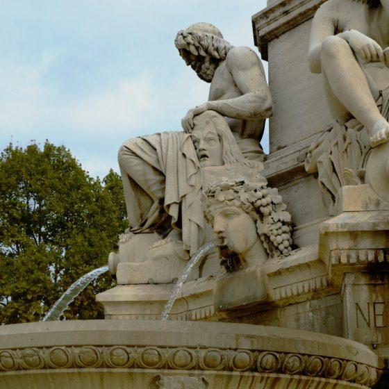 Nimes - Esplanade Charles De Gaule, Fountain