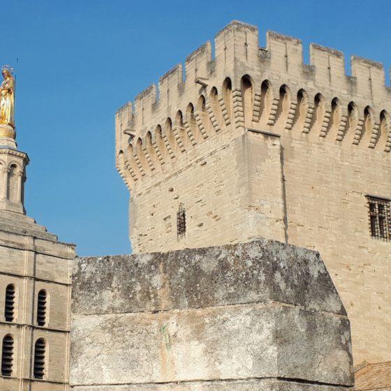 Avignon - Pont Des Palais, Cathédrale Notre-Dame des Doms d'Avignon