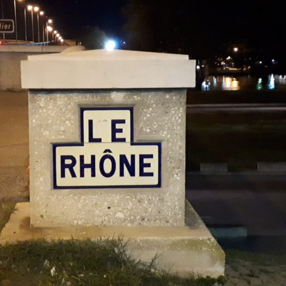 Le Rhone River sign Avignon