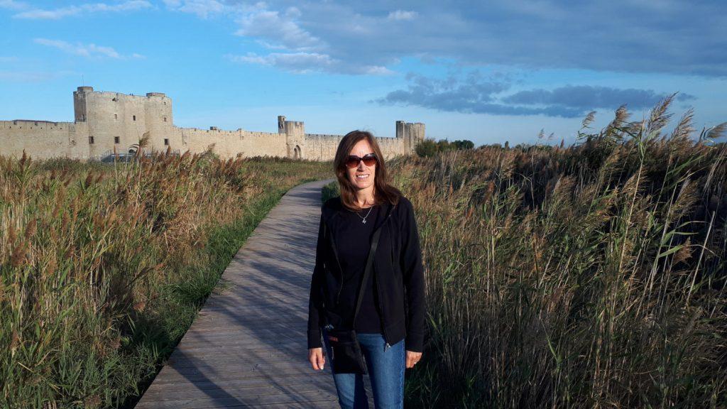 Walk around the lagoon area outside Aigues Mortes