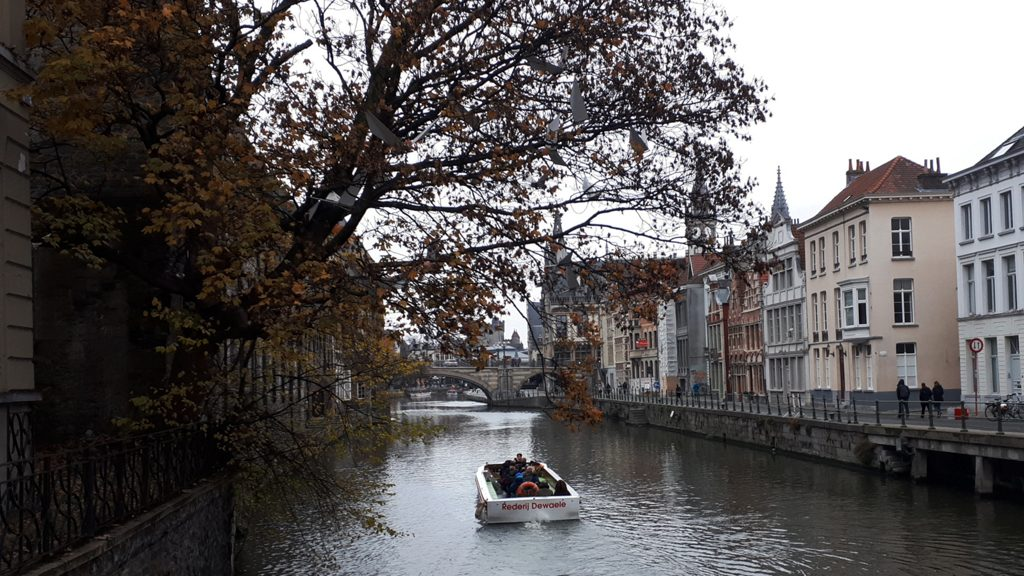 Ghent - Typical River Lys view
