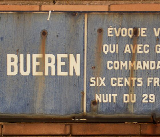 Liege Montagne de Bueren sign