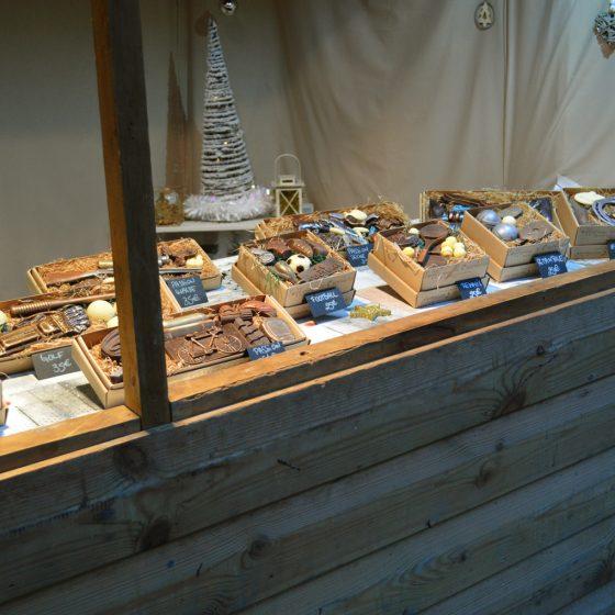 Liege Market chocolate stand