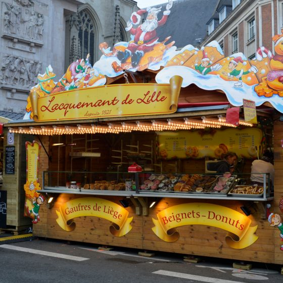Lille Christmas Market - Donut and Gaufres stall