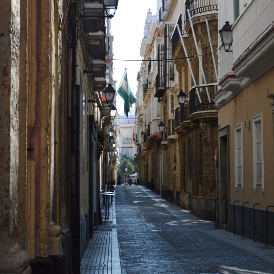 Cadiz typical narrow street