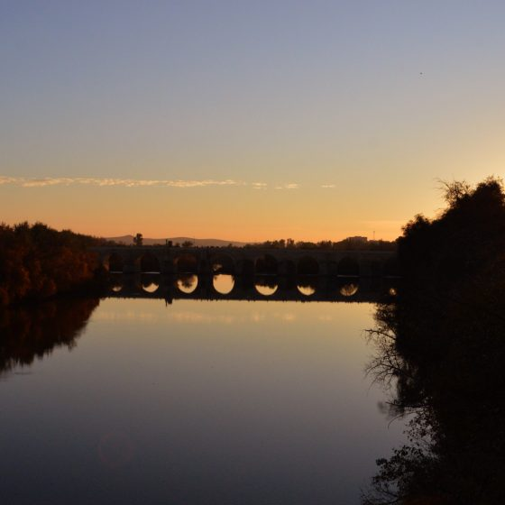 Cordoba Puente Romano at Sunset