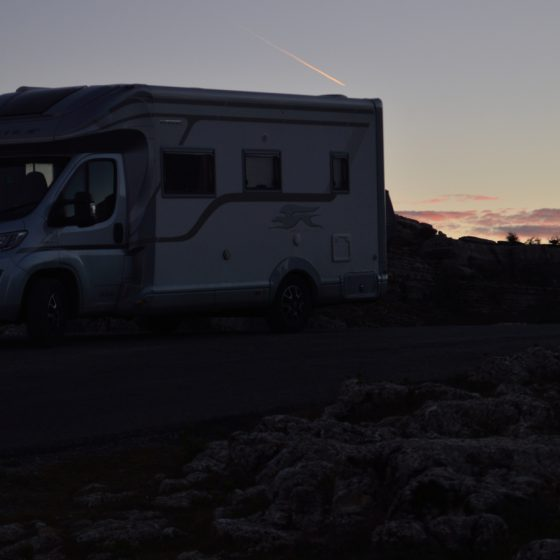 El Torcal - Buzz in the gorgeous Sunset