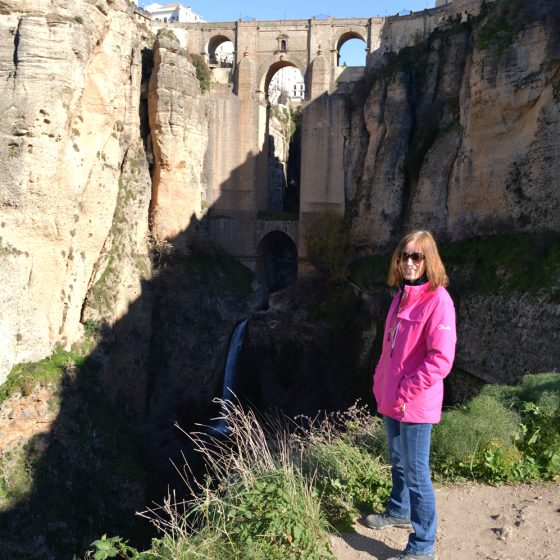 Ronda - At the view point for the Puete Nuevo