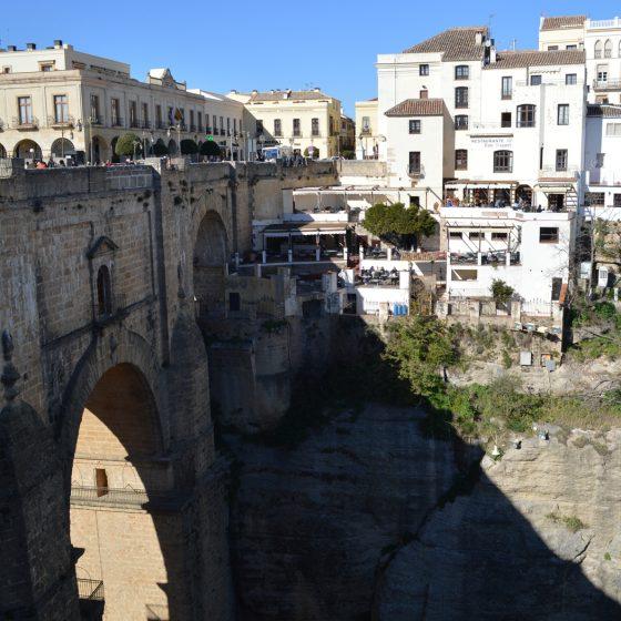 Ronda - Looking back across by the Puente Nuevo Bridge