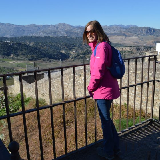 Ronda - Marcella looks out from the Mirador