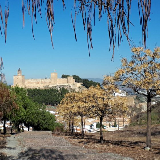 Antequera fortress from the back of the town