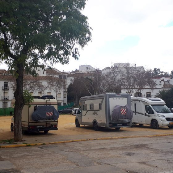 Plenty of parking in Arcos de la Frontera