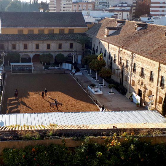 Views of Cordoba's Spanish riding school