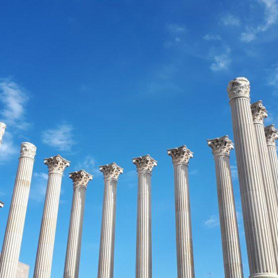 Roman columns of the Temple of Cordoba