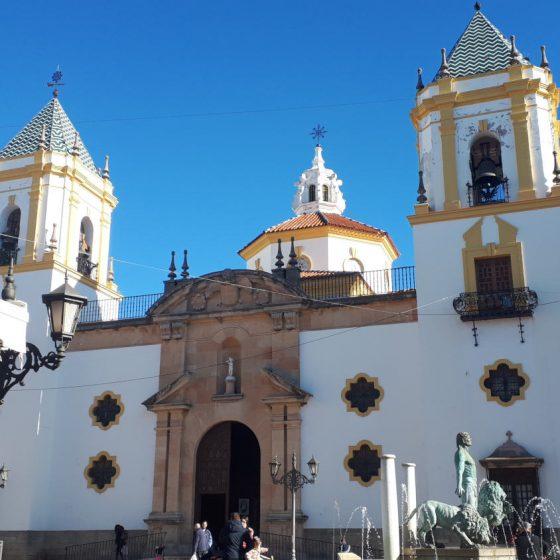 Iglesia del Socorro - white and yellow painted church in Ronda's main square