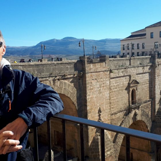 Posing by the bridge like a typical tourist - Ronda