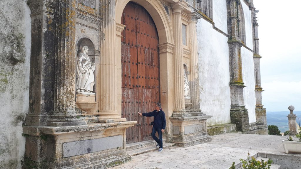 Huge church door in Medina Sidonia
