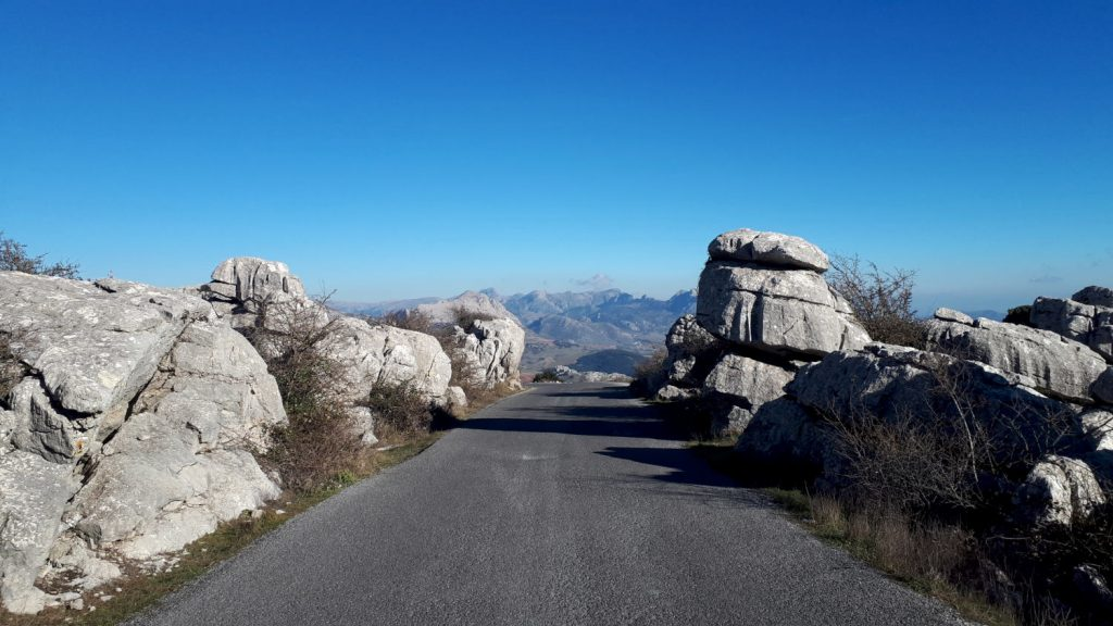 The road at El Torcal natural park