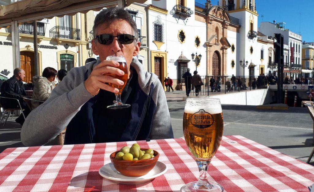 Time for a drink at the Plazza del Socorro Ronda