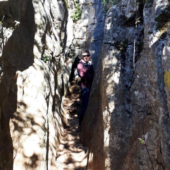 A narrow part of the El Torcal Yellow walk