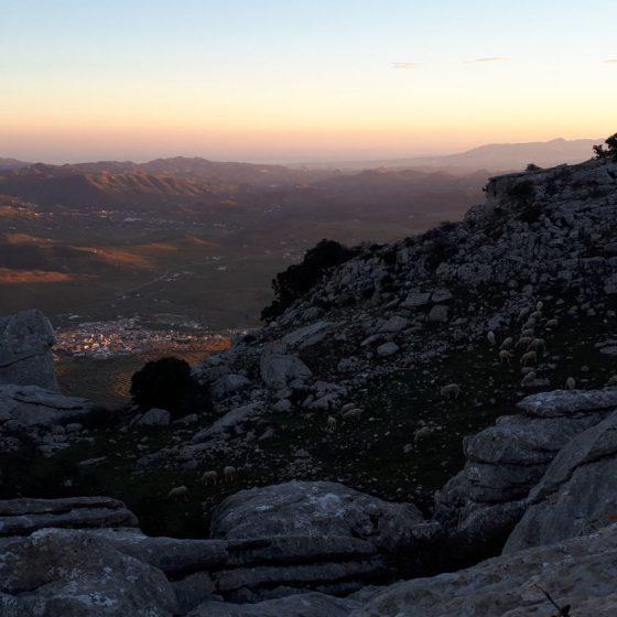 A beautiful sundown at The Mirador viewpoint El Torcal