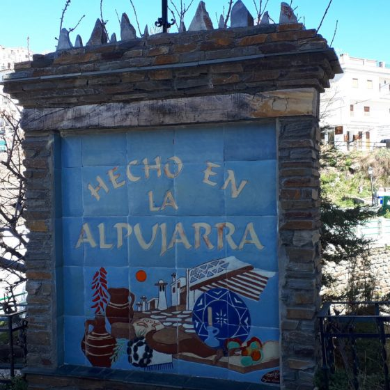 Made in Alpujarra sign in the village
