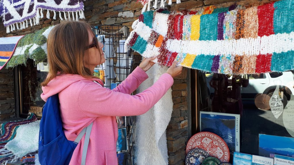 Traditional Jarapas, woven Alpujjaran rugs