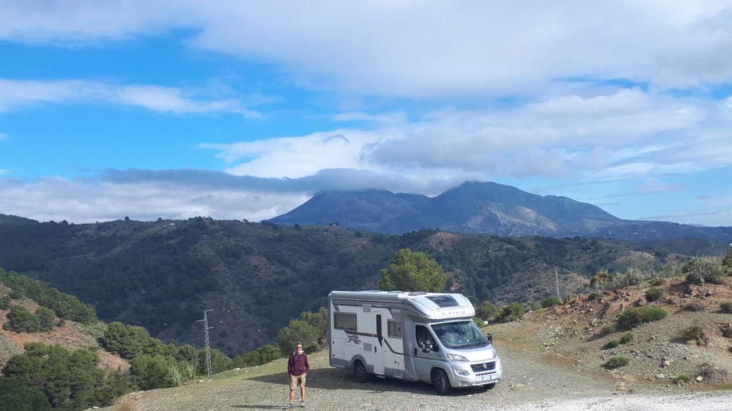 Motorhome in the Sierra de las Nieves, Spain