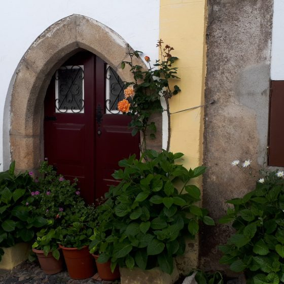 One of the charming doorways in the Jewish quarter of town