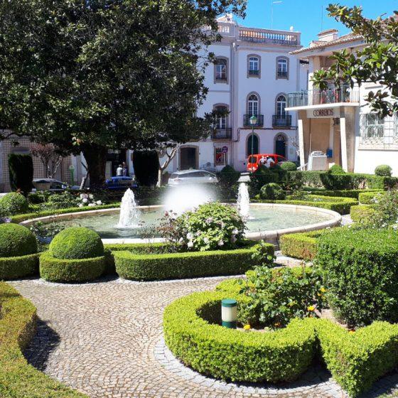 Castelo de Vide gardens with fountain