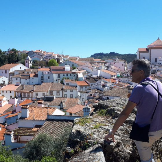 Julian admiring some of Castelo de Vide's views