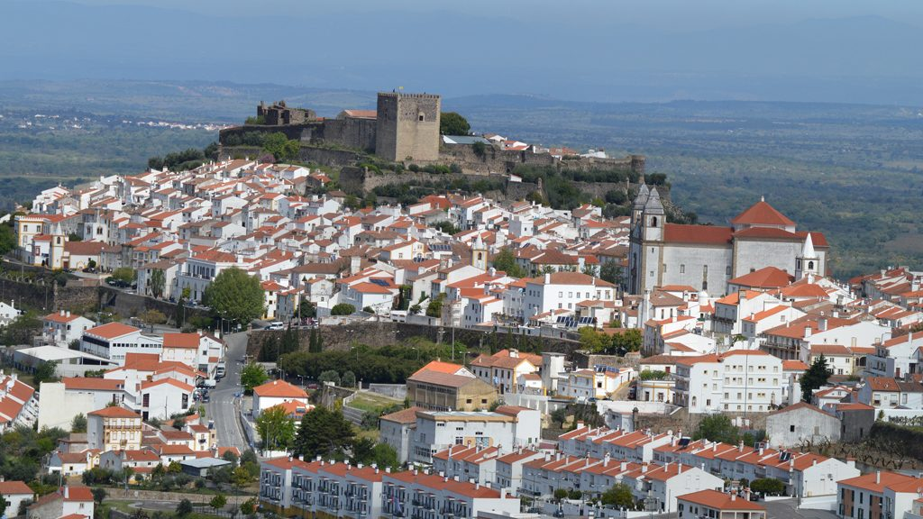 Castelo de Vide - viewed from across valley