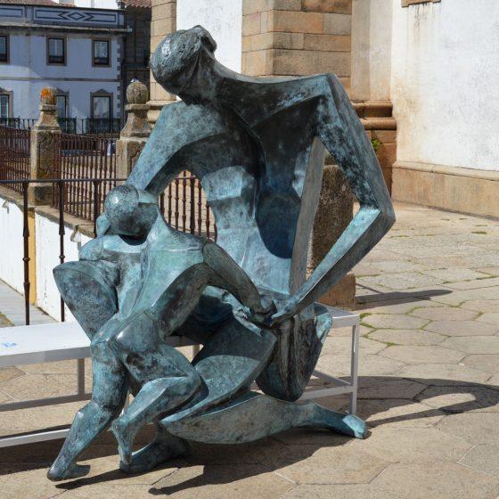 Castelo de Vide - Sculpture displayed in square